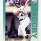 1992 Fleer Baseball #260 Brook Jacoby - Oakland A's