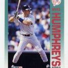 1992 Fleer Baseball #231 Mike Humphreys - New York Yankees