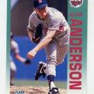 1992 Fleer Baseball #196 Allan Anderson - Minnesota Twins