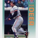 1992 Fleer Baseball #132 Rob Deer - Detroit Tigers