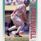 1992 Fleer Baseball #039 Mike Greenwell - Boston Red Sox