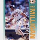 1992 Fleer Baseball #019 Randy Milligan - Baltimore Orioles