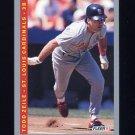 1993 Fleer Baseball #136 Todd Zeile - St. Louis Cardinals