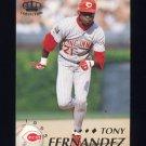 1995 Pacific Baseball #104 Tony Fernandez - Cincinnati Reds
