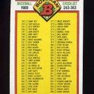 1989 Bowman Baseball #483 Checklist 243-363