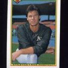 1990 Bowman Baseball #450 Rick Honeycutt - Oakland A's