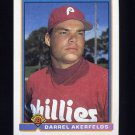1991 Bowman Baseball #493 Darrel Akerfelds - Philadelphia Phillies