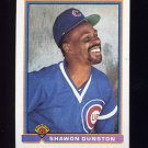 1991 Bowman Baseball #424 Shawon Dunston - Chicago Cubs
