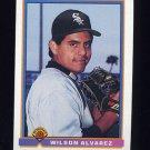 1991 Bowman Baseball #354 Wilson Alvarez - Chicago White Sox