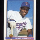 1991 Bowman Baseball #269 Donald Harris - Texas Rangers