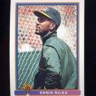 1991 Bowman Baseball #217 Earnest Riles - Oakland A's