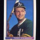 1991 Bowman Baseball #216 Terry Steinbach - Oakland A's