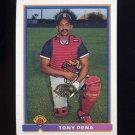 1991 Bowman Baseball #124 Tony Pena - Boston Red Sox