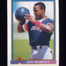 1991 Bowman Baseball #113 Jeff McNeely RC - Boston Red Sox