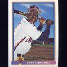 1991 Bowman Baseball #071 Jerry Browne - Cleveland Indians