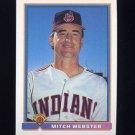 1991 Bowman Baseball #066 Mitch Webster - Cleveland Indians
