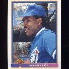 1991 Bowman Baseball #021 Manny Lee - Toronto Blue Jays
