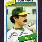 1980 Topps Baseball #391 Tony Armas - Oakland A's