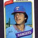 1980 Topps Baseball #283 John Ellis - Texas Rangers