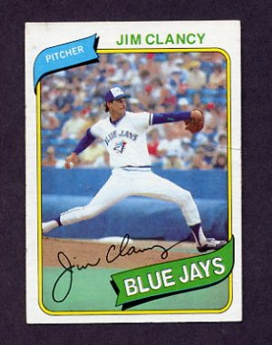 1980 Topps Baseball 249 Jim Clancy Toronto Blue Jays