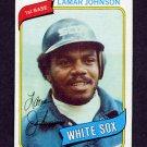 1980 Topps Baseball #242 Lamar Johnson - Chicago White Sox