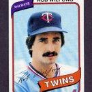 1980 Topps Baseball #238 Rob Wilfong - Minnesota Twins