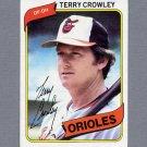 1980 Topps Baseball #188 Terry Crowley - Baltimore Orioles