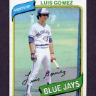 1980 Topps Baseball #169 Luis Gomez - Toronto Blue Jays