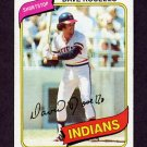 1980 Topps Baseball #122 Dave Rosello - Cleveland Indians Vg