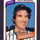 1980 Topps Baseball #092 Rick Rhoden - Pittsburgh Pirates Ex