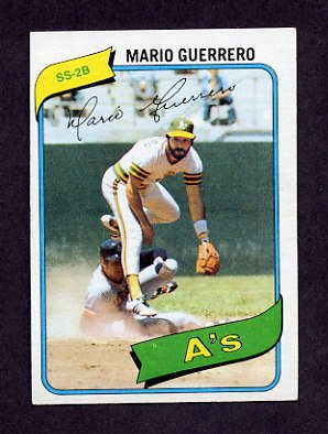 1980 Topps Baseball #049 Mario Guerrero - Oakland A's Ex