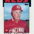 1986 Topps Traded Baseball #104T Kurt Stillwell - Cincinnati Reds