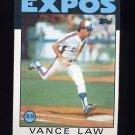 1986 Topps Baseball #787 Vance Law - Montreal Expos