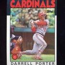 1986 Topps Baseball #757 Darrell Porter - St. Louis Cardinals
