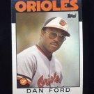 1986 Topps Baseball #753 Dan Ford - Baltimore Orioles