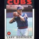 1986 Topps Baseball #744 Lary Sorensen - Chicago Cubs