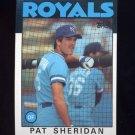1986 Topps Baseball #743 Pat Sheridan - Kansas City Royals