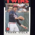 1986 Topps Baseball #742 Frank Viola - Minnesota Twins