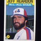 1986 Topps Baseball #711 Jeff Reardon AS - Montreal Expos