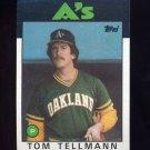 1986 Topps Baseball #693 Tom Tellmann - Oakland A's