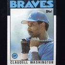 1986 Topps Baseball #675 Claudell Washington - Atlanta Braves