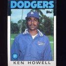 1986 Topps Baseball #654 Ken Howell - Los Angeles Dodgers