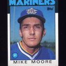 1986 Topps Baseball #646 Mike Moore - Seattle Mariners