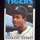 1986 Topps Baseball #609 Barbaro Garbey - Detroit Tigers