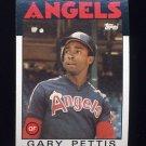 1986 Topps Baseball #604 Gary Pettis - California Angels