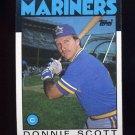1986 Topps Baseball #568 Donnie Scott - Seattle Mariners