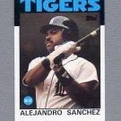 1986 Topps Baseball #563 Alejandro Sanchez - Detroit Tigers ExMt