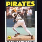 1986 Topps Baseball #525 Marvell Wynne - Pittsburgh Pirates