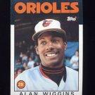 1986 Topps Baseball #508 Alan Wiggins - Baltimore Orioles