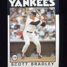1986 Topps Baseball #481 Scott Bradley - New York Yankees